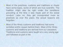 indian customs and scientific facts them