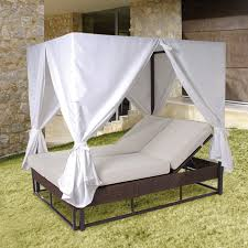 Outdoor Day Bed by Exterior Garden Daybed With White Canopy And Curtain Using Double