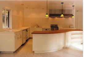 curved cherry wood kitchen counter and cabinets wood furniture