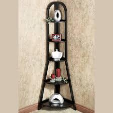 Tall Corner Bookshelves by Kimber Black Ladder And Corner Shelves