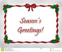 season s greetings and ribbon stock photo image 5499180
