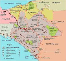 mexico on map clickable map of chiapas state mexico clickable