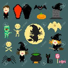halloween pixel background 276 pixel cat stock vector illustration and royalty free pixel cat
