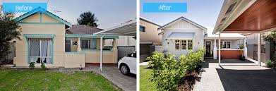 before and after from a 1940s cottage to a contemporary residence