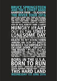 bruce springsteen u0026 the e street band the river tour 2016