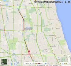 Illinois Toll Map by Major Crash On Tri State Tollway Eastbound Near Half Day Rd