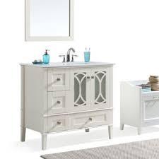 Vinnova Florence 36 Inch White Single Vanity With Carrara White