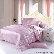 White Silk Bedding Sets Style Pink Duvet Cover Set Silk Bedding Luxury Bedding
