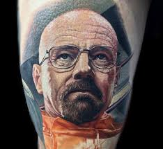 outstanding face breaking bad tattoos golfian com