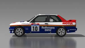 bmw rally car dirt rally bmw e30 m3 rothmans motul bernard béguin