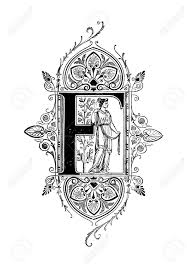 neoclassical design romanesque neoclassical design depicting the letter f digitally
