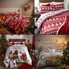 Christmas Duvet Cover Sets Christmas Bedding Ebay
