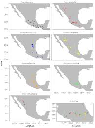 Michoacan Mexico Map by Mexican Conifers Differ In Their Capacity To Face Climate Change