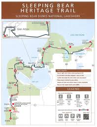 Cedar Fair Parks Map Sleeping Bear Heritage Trail Sleeping Bear Dunes National