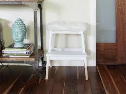 bekvam step stool ikea hack dipped bekväm step stool with tejn faux sheep