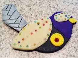 angela anderson art blog polymer clay bird ornaments kids art class