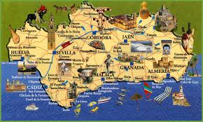 Map Of Malaga Spain by Andalusia Travel Map