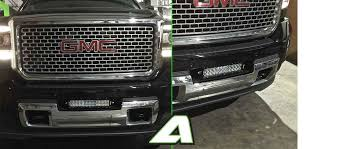led lights for 2014 gmc sierra 2014 15 gmc 2500 sierra denali 12 light bar bumper mounts apoc