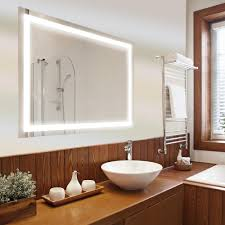 Bathroom Mirrors Dyconn Edison 48 In X 36 In Led Wall Mounted Backlit Vanity