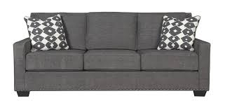Gray Nailhead Sofa by Brace Sofa Corporate Website Of Ashley Furniture Industries Inc