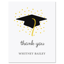 graduation thank you cards confetti and cap graduation thank you note cards current catalog