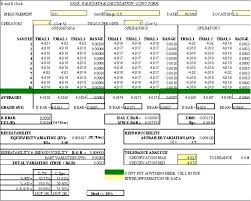 Capability Study Excel Template Polymer Processing 4 Gage Repeatability Reproducibility R R