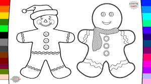 gingerbread man coloring pages youtube