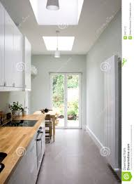Galley Style Kitchens Modern Bright Kitchen Galley Style Royalty Free Stock Photography