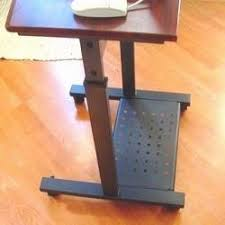 Laptop Desk With Printer Shelf Cuzzi S2015 20 Narrow Mini Laptop Desk Sit Stand Height