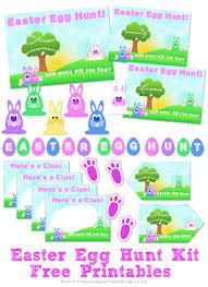 easter egg hunt kit free printables the purple pumpkin blog