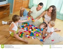 happy family in home interior stock photo image 45242202