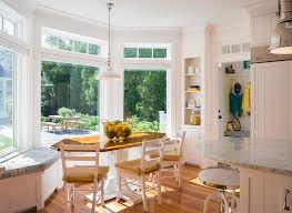 Bay Window Breakfast Nook Ideas Dining Room Traditional With Built - Dining room with bay window