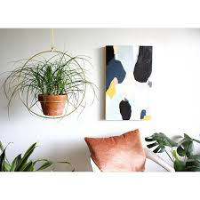 modern hanging planters brass plant hanger metal hanging planter modern planter