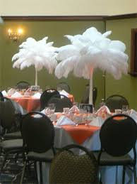 ostrich feather centerpieces ostrich feather centerpieces weddingbee