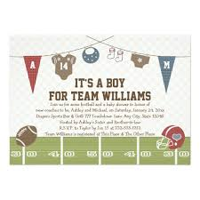 baby shower for couples co ed football baby shower invitation card