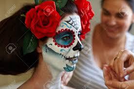 halloween mask makeup halloween makeup stock photos u0026 pictures royalty free halloween