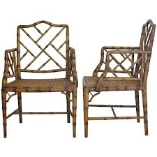 1980s furniture two chinese chippendale faux bamboo arm chairs 1980s at 1stdibs