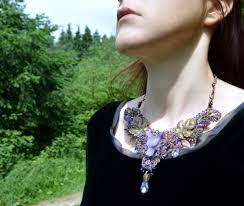 purple fashion jewelry necklace images Amethyst wolf necklace fantasy elf jewellery in wire wrap and jpg