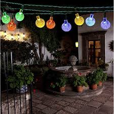 magiclux tech 30 leds 21 feet outdoor globe solar string lights