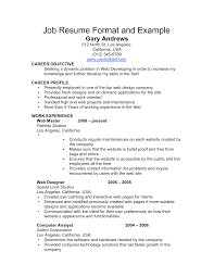 Simple Form Of Resume Format Of Resume For Experienced Person Free Resume Example And