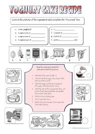 8 free esl cooking vocabulary worksheets