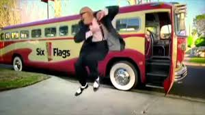Six Flags Dance Song 6 Flags Old Man Dancing Youtube