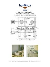 grease trap sizing sanitary sewer sewage treatment