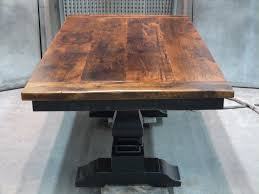 Rustic Vintage Dining Area Old And Vintage Small Distressed Pedestal Trestle Dining Table