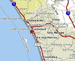 california map carlsbad carlsbad maps mileage information