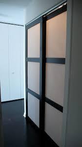 Shoji Sliding Closet Doors Custom Made Sliding Shoji Closet Doors With Synskin Panels