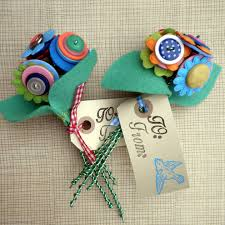 button flowers hippy happy button flowers bouquet on luulla