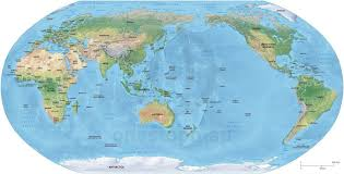 World Map Labled by Vector Map World Relief Robinson Asia Australia One Stop Map