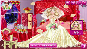 barbie games barbie wedding room decoration and dress up game