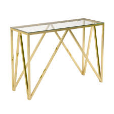 Gold Console Table Luxor Gold Console Table Xcella